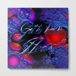 "March Madness ""Heart"" Metal Print"