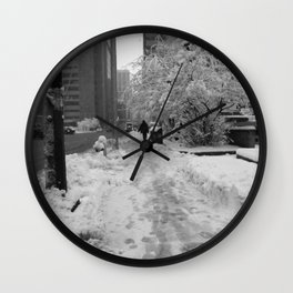 Snow in May Wall Clock