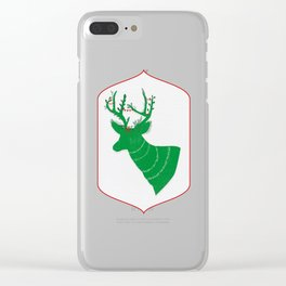 Green Stag Clear iPhone Case