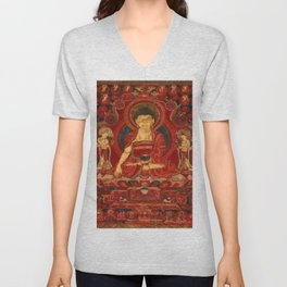 Buddha Shakyamuni as Lord of the Munis Unisex V-Neck