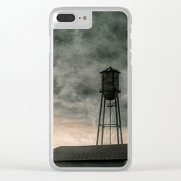 Water Tower #textured Clear iPhone Case