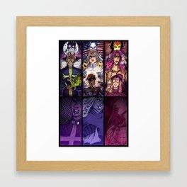 JoJo Villains Framed Art Print