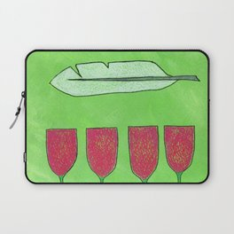 Flowers and a Feather Laptop Sleeve