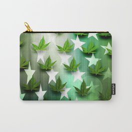 Patriotic Stars and Cannabis Design Carry-All Pouch
