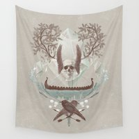 iceland Wall Tapestries featuring Ghosts of Scandinavia. Iceland. by Helga Nordvik