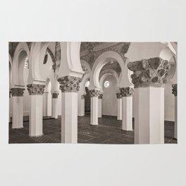 The Historic Arches in the Synagogue of Santa María la Blanca, Toledo Spain (2) Rug
