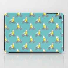 Panda on a bike iPad Case