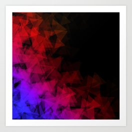 Dark origami Art Print