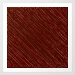 Vintage ornament of their red threads and repetitive intersecting fibers. Art Print