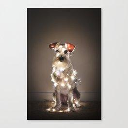 HOLIDAY DOG Canvas Print