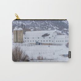 White Barn in Utah Mountains Carry-All Pouch