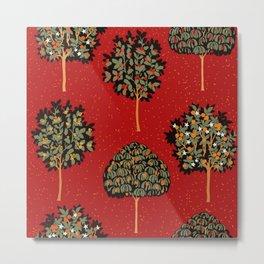 Medieval Blood Red Forest Metal Print