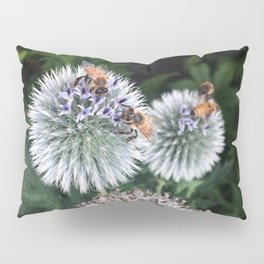 Bees on wildflowers in the summer garden 2 Pillow Sham