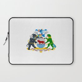 flag of Oxford Laptop Sleeve