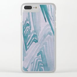 Watercolor Waves Clear iPhone Case