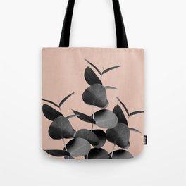 Eucalyptus Leaves Black Gray White Pale Terracotta #1 #foliage #decor #art #society6 Tote Bag