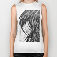 no face Biker Tanks featuring Face by rchaem