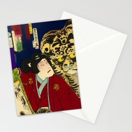Tiger with warrior in Japan Stationery Cards