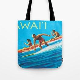 Hawaiian Surfers, Honolulu, Hawaii Vintage Poster Tote Bag