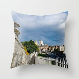 York City Roman wall and Minster Throw Pillow