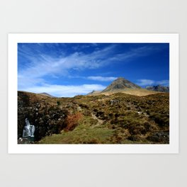 The Black mountains, Skye. Scotland Art Print