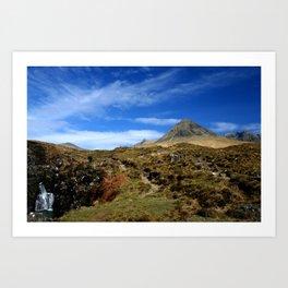 The Black mountains, Skye. Scotland Art Print