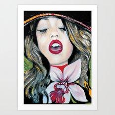 Bohemian Girl Art Print