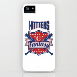 Hitters Gonna Hit Funny Baseball Awesome Baseballer iPhone Case