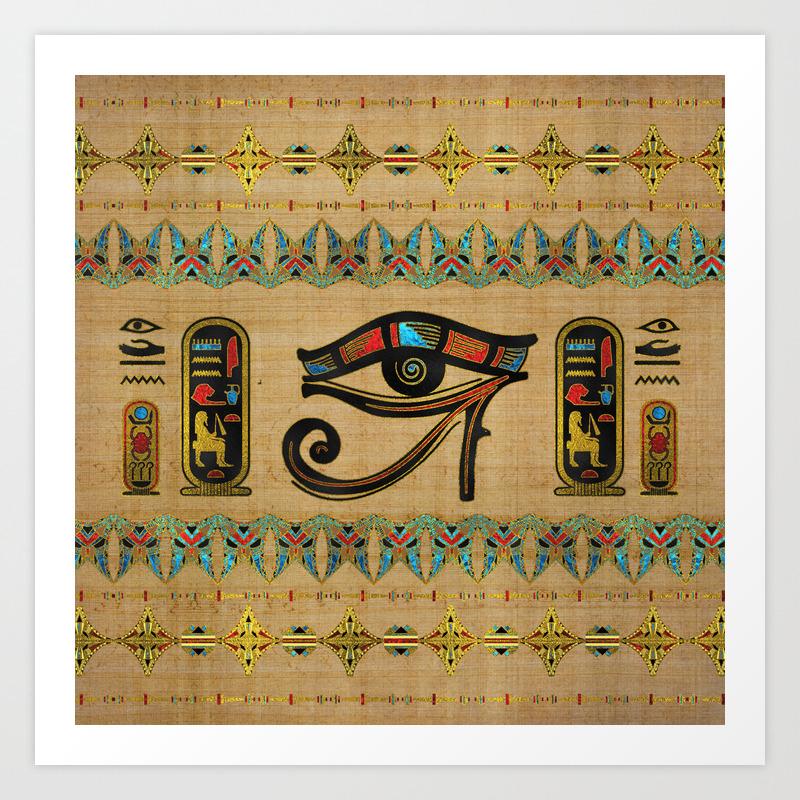Poster Home Decor Egyptian Eye Of Horus Art//Canvas Print Wall Art