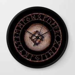 Ingwaz Elder Futhark Rune Male fertility, gestation, internal growth. Common virtues, common sense Wall Clock