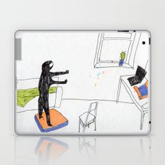 in the virtual reality suit Laptop & iPad Skin