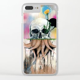 Skull Roots Clear iPhone Case