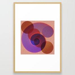 Spiral Nautical Shell Framed Art Print