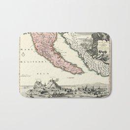 Map Of Corfu 1720 Bath Mat