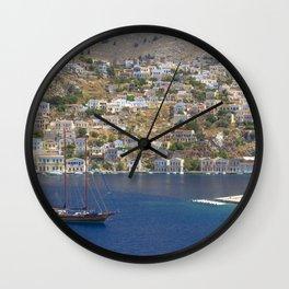 Symi Island in Greece Wall Clock