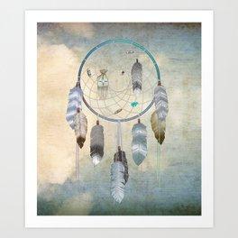 Awakening, a dreamcatcher Art Print