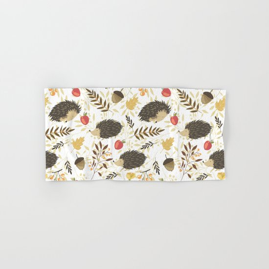Cute hedgehogs Hand & Bath Towel