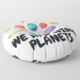 Back In My Day We Had Nine Planets | Astronomy Floor Pillow