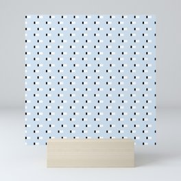 Minimal Squares - Steel Blue Mini Art Print