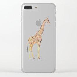 My Spirit Animal is a Giraffe Clear iPhone Case