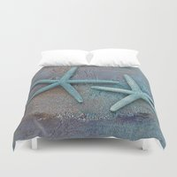 starfish Duvet Covers featuring Starfish by LebensART Photography