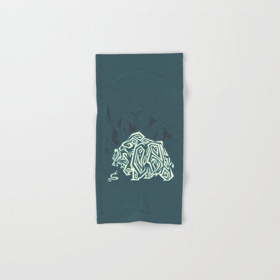Wild Bear Hand & Bath Towel