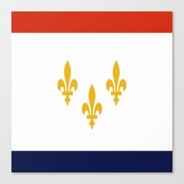 flag of new orleans,NOLA, Crescent City,Big Easy, Nawlins, jazz,Lousiana,french,cajun,treme Canvas Print