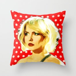 Blondie - Debbie Harry - Pop Art Throw Pillow