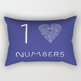 I heart Numbers Rectangular Pillow