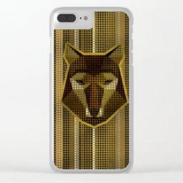 Aboriginal Gold  Dot art  Wolf Clear iPhone Case