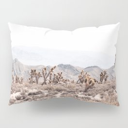 Joshua Tree // Vintage Desert Landscape Cactus Southwest Mountains Pillow Sham