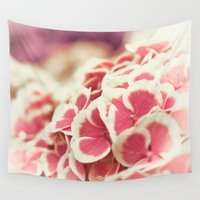 hydrangea Wall Tapestries featuring Hydrangea by Julia Tomova
