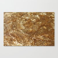 gold glitter Canvas Prints featuring Glitter by Ellie Rose Flynn