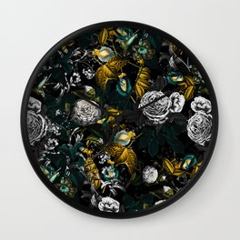 EXOTIC GARDEN - NIGHT Wall Clock